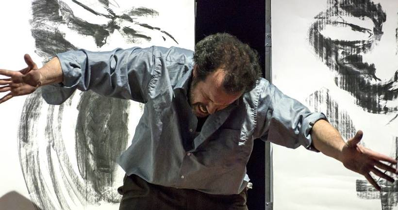 Un bès - Antonio Ligabue, Mario Perrotta in scena (All rights reserved)