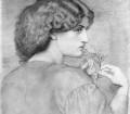 DANTE GABRIEL ROSSETTI (1828-1882) The Roseleaf, matita su carta, c.1865 Collezione privata