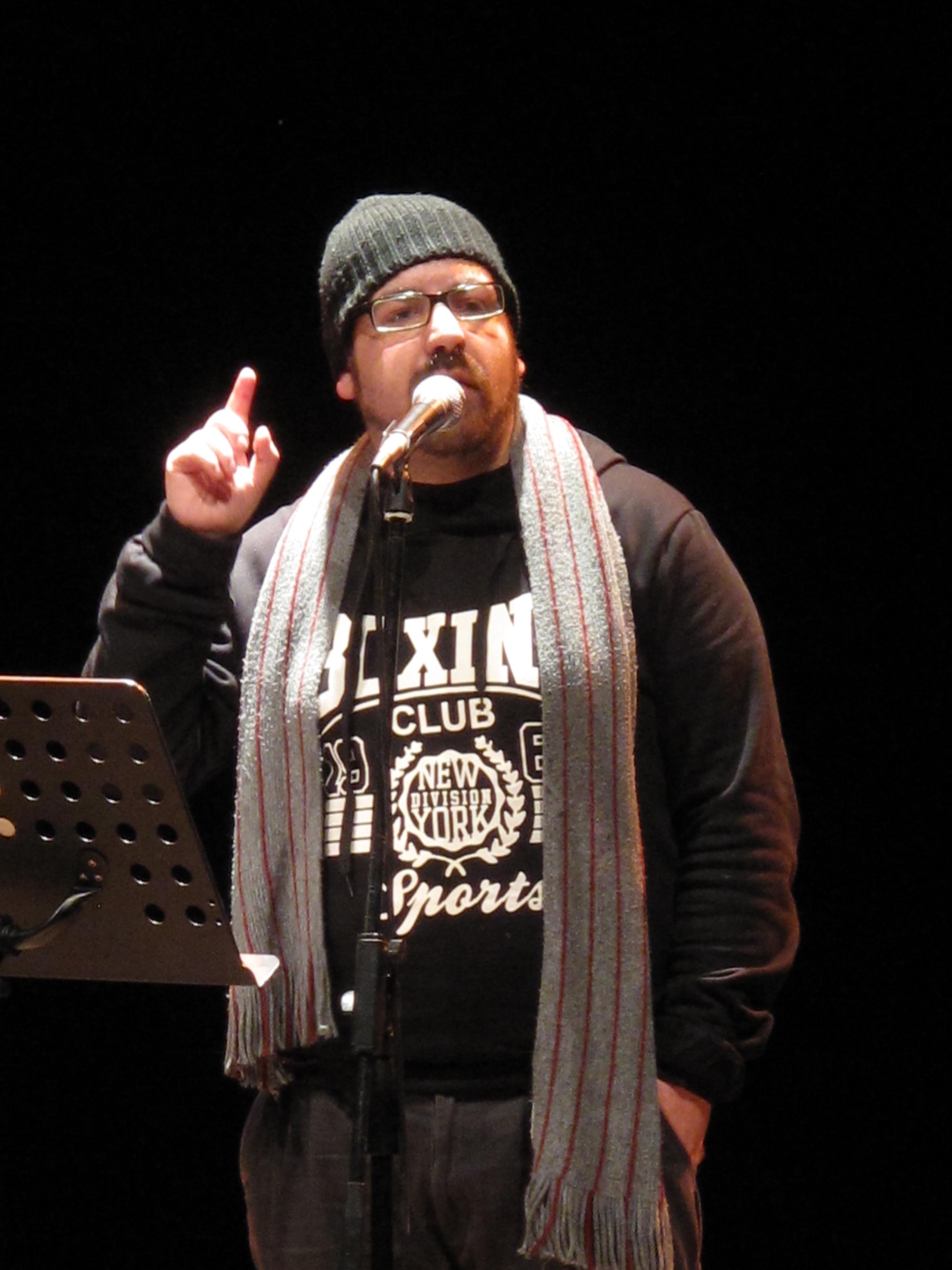 Gli scrittori sardi ricordano Sergio Atzeni, Manuelle Mureddu, Teatro Massimo, Cagliari, 11 gennaio 2015