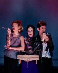 Le sorelle Delunas, Tiziana Troja, Antonella Puddu e Michela Sale Musio (da sinistra)