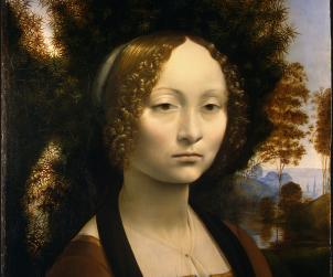 Ginevra de' Benci, Leonardo da Vinci, 1474-1478