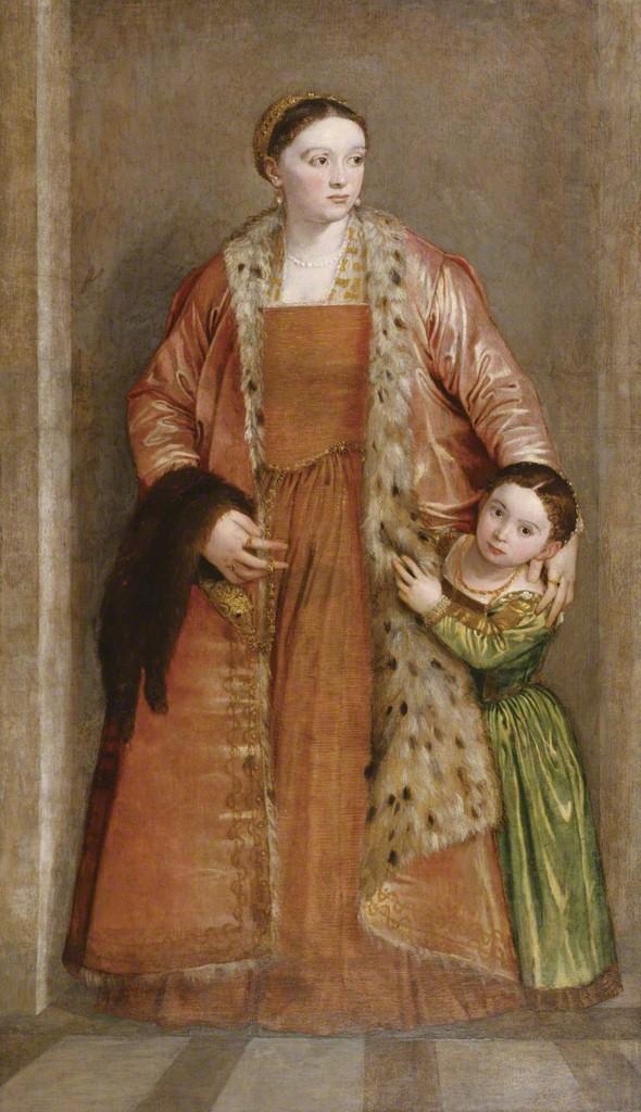 PAOLO CALIARI CALLED PAOLO VERONESE Ritratto della Contessa Livia da Porto Thiene con sua figlia Deidamia 1552 Walters Art Museum