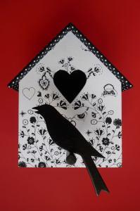 Casetta per uccelli decorata by Cou.cou.ja©