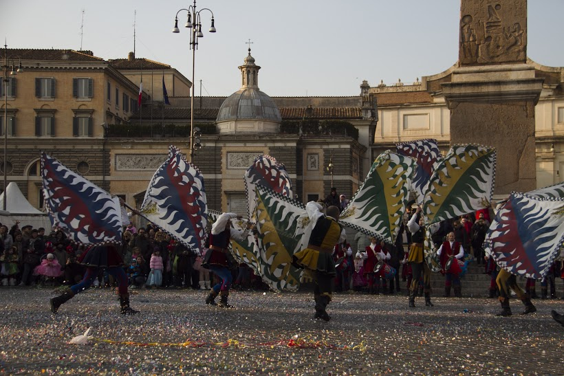 Carnevale romano, sbandieratori, Photo by Stefania Pendenza