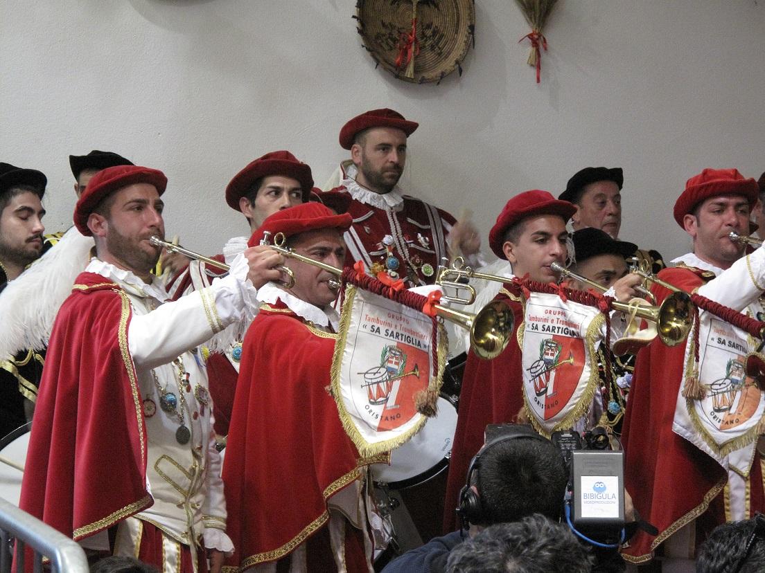 Sa Sartiglia 2015, vestizione de Su Cumponidori del Gremio dei Contadini, I trombettieri, Foto by Duranti©
