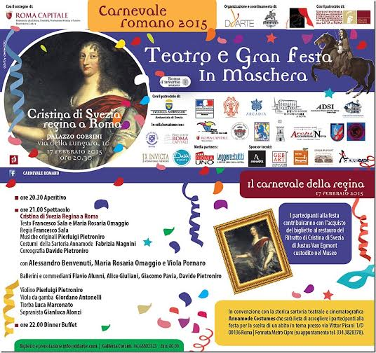 Carnevale romano 2015, locandina