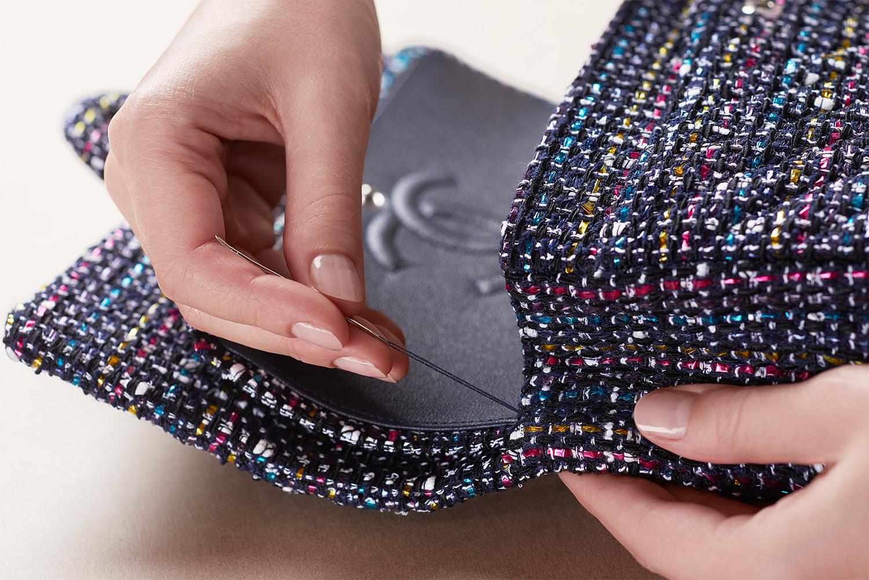 11.12 handbag by CHANEL© - Evidenza delle sei tasche interne (esemplare in tweed)