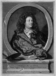 Charles de La Fosse in un'incisione di Rigaud