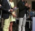 Momento della premiazione da parte del presentatore Roberto Betocchi e dei presidenti del Rotaract Golfo degli Angeli e del Rotaract Cagliari, Pic by Duranti ©