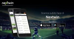 Nextwin, immagine pubblicitaria dell'App