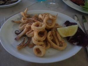 Cagliari, Calamari fritti a La Pirata2, Foto di Andrea Duranti©
