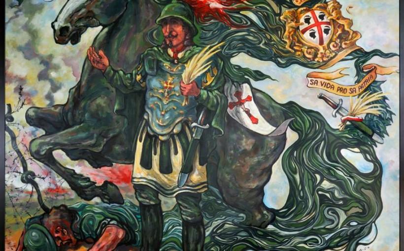 Dipinto di Sant'Efisio alla Caserma Monfenera di Cagliari.
