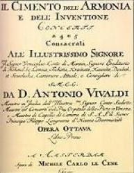 Frontespizio de Il Cimento dell'Armonia e dell'inventione (Amsterdam, Le Cène, ca.1727) Bologna, Museo internazionale e biblioteca della musica