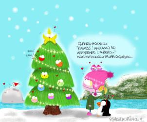 Buon Natale da www.mockumagazine.it, illustrazione di PsycoLaurina©