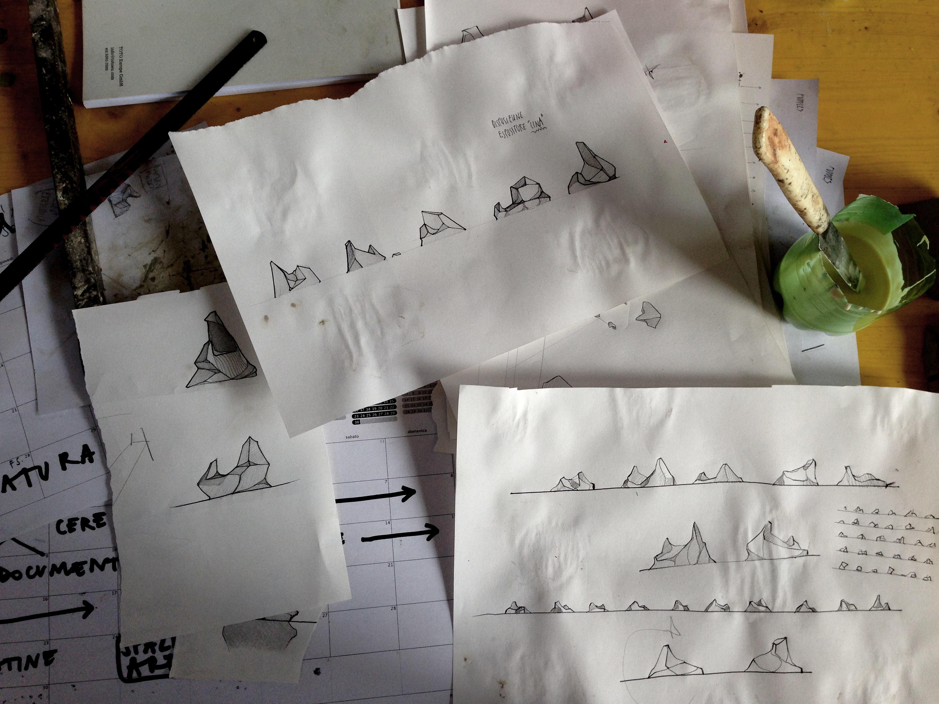 Eracle Dartizio, disegno Pozzanghere, Fonderia Artistica Battaglia, Milano