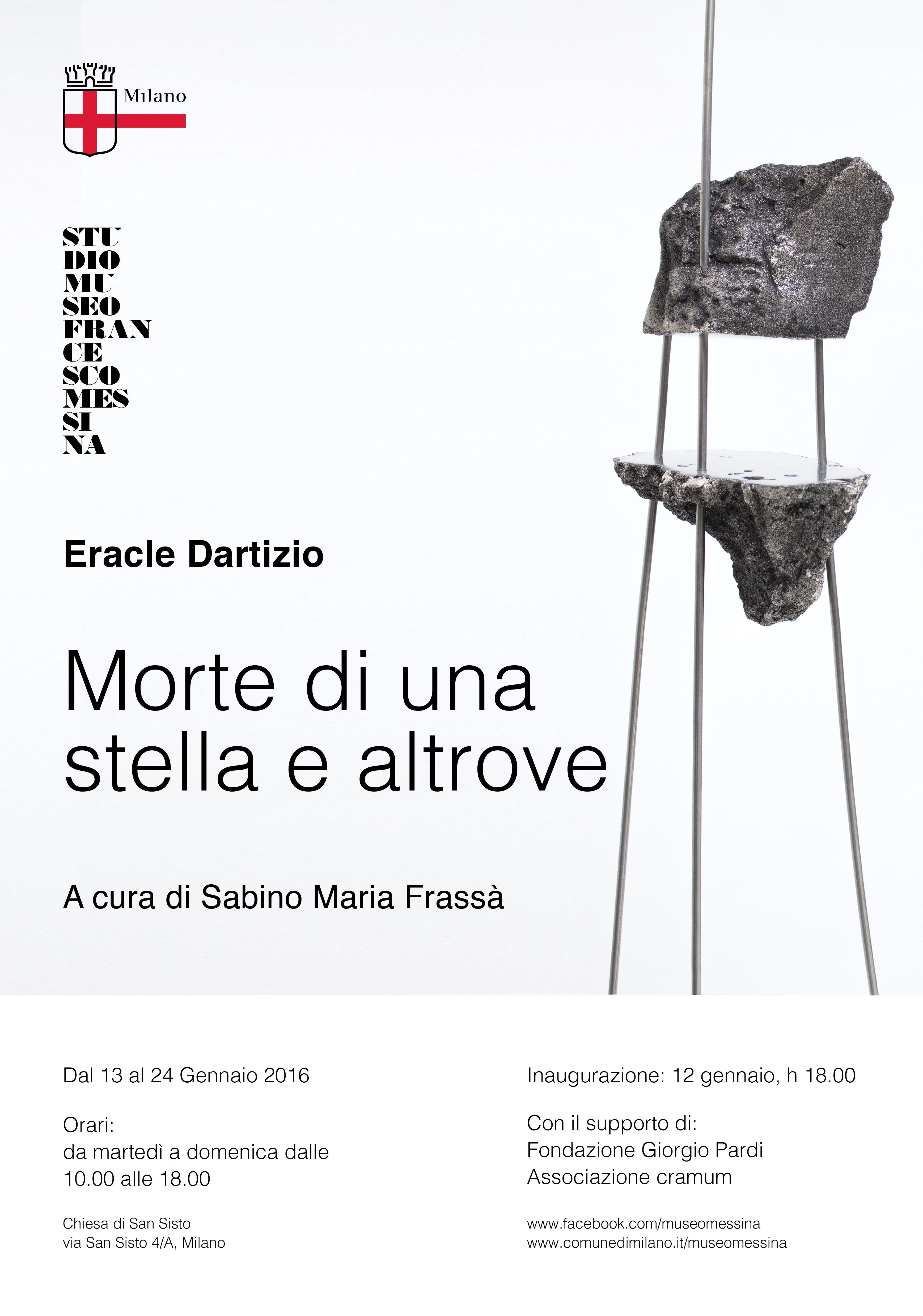 Eracle Dartizio, Morte di una stella e altrove, locandina della mostra