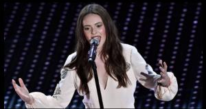 Francesca Michielin sul palco dell'Aristo, Sanremo 2016 (RaiUno©)