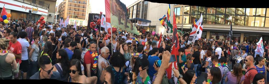 Sardegna Pride 2016, la folla dei partecipanti.