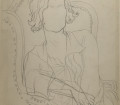 "JEAN COCTEAU, Coco Chanel, circa 1930 Pencil drawing Stéphane Dermit Collection, on loan to Maison Jean Cocteau, Milly-la-Forêt, ©ADAGP, Paris 2016 All rights reserved ©Collection Patrimoine de CHANEL ""With the kind authorization of M. Pierre Bergé, président du Comité Jean Cocteau"""
