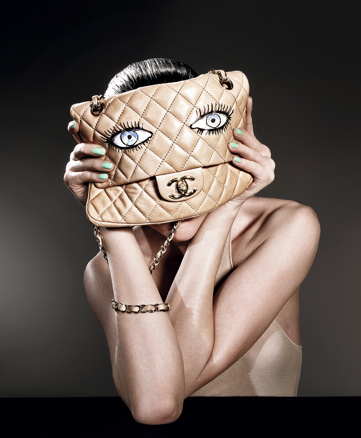 RICHARD BURBRIDGE, Sara Blomqvist holding, a CHANEL bag, 2010, ©Richard Burbridge
