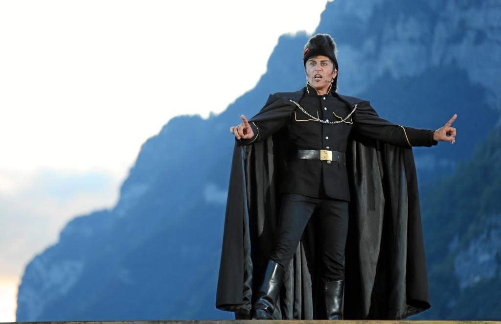Brunno Grassini nel ruolo di Hermann Gessler nel musical Guglielmo Tell.