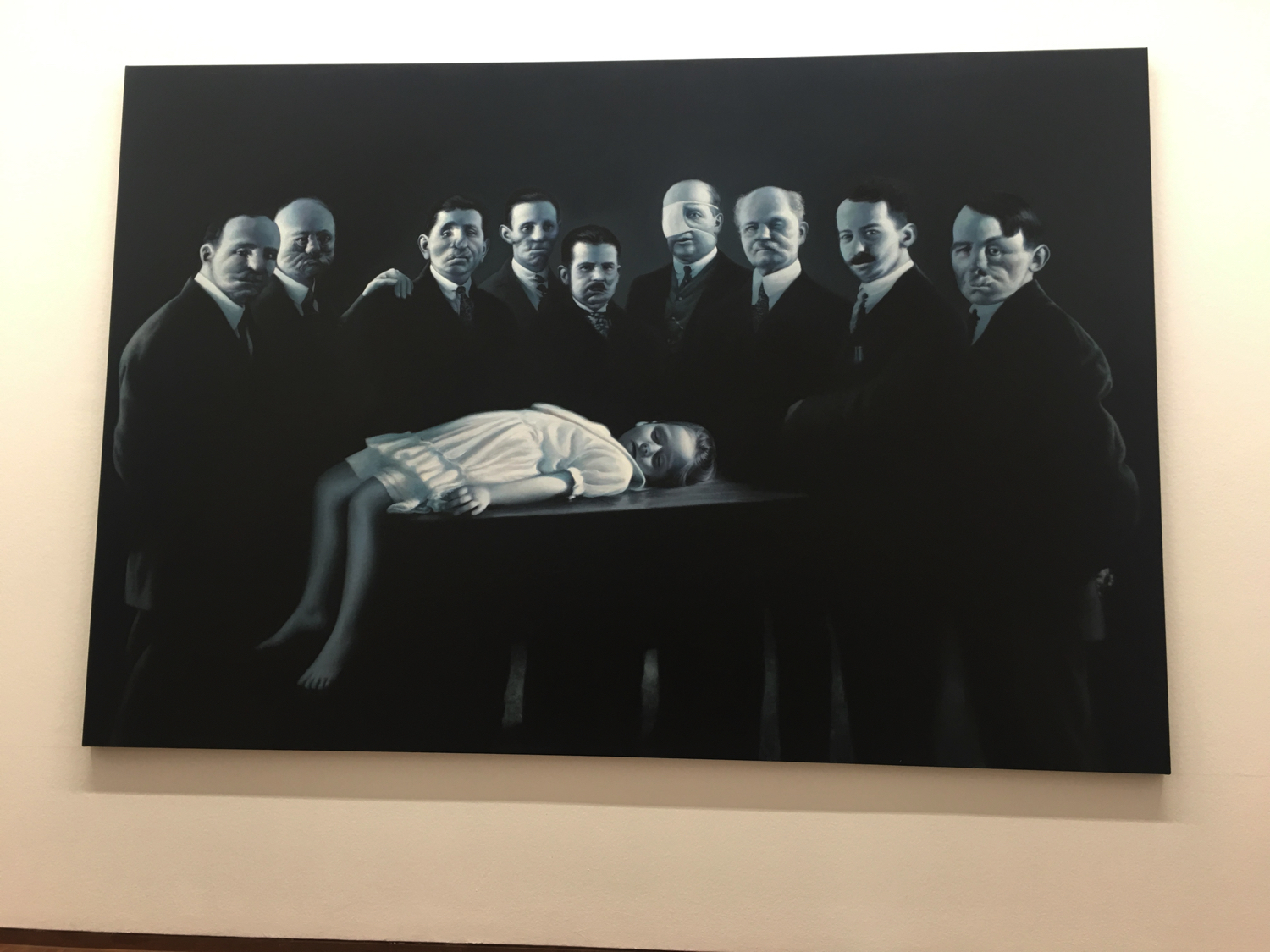 Gottfried Helnwein, Epiphany IIII (Presentation at the Temple 2), 2015/2016, Albertina Museum, Vienna