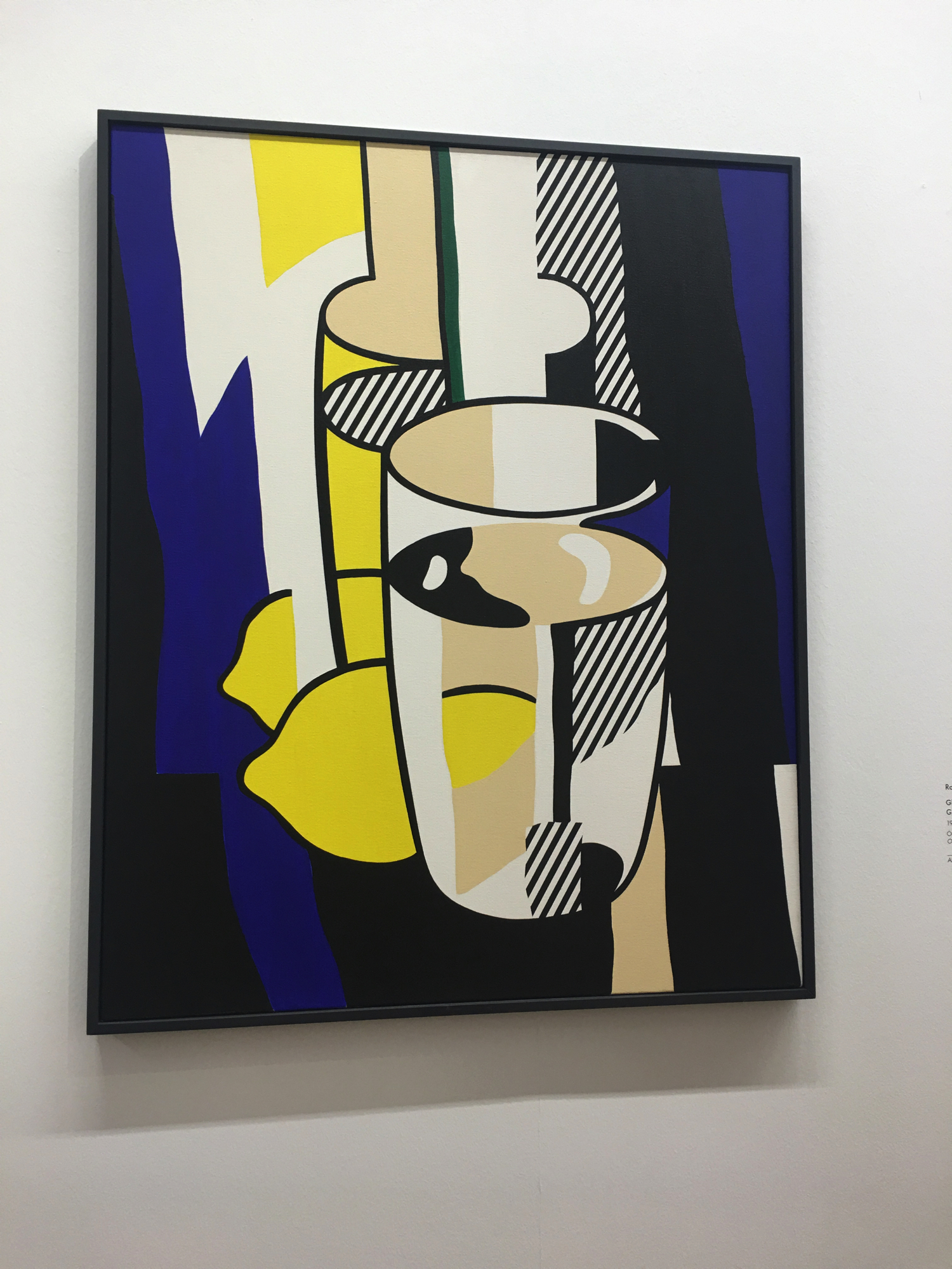Roy Lichtenstein, Glass and Lemon before a Mirror, 1974, Collezione Batliner, Albertina Museum, Vienna