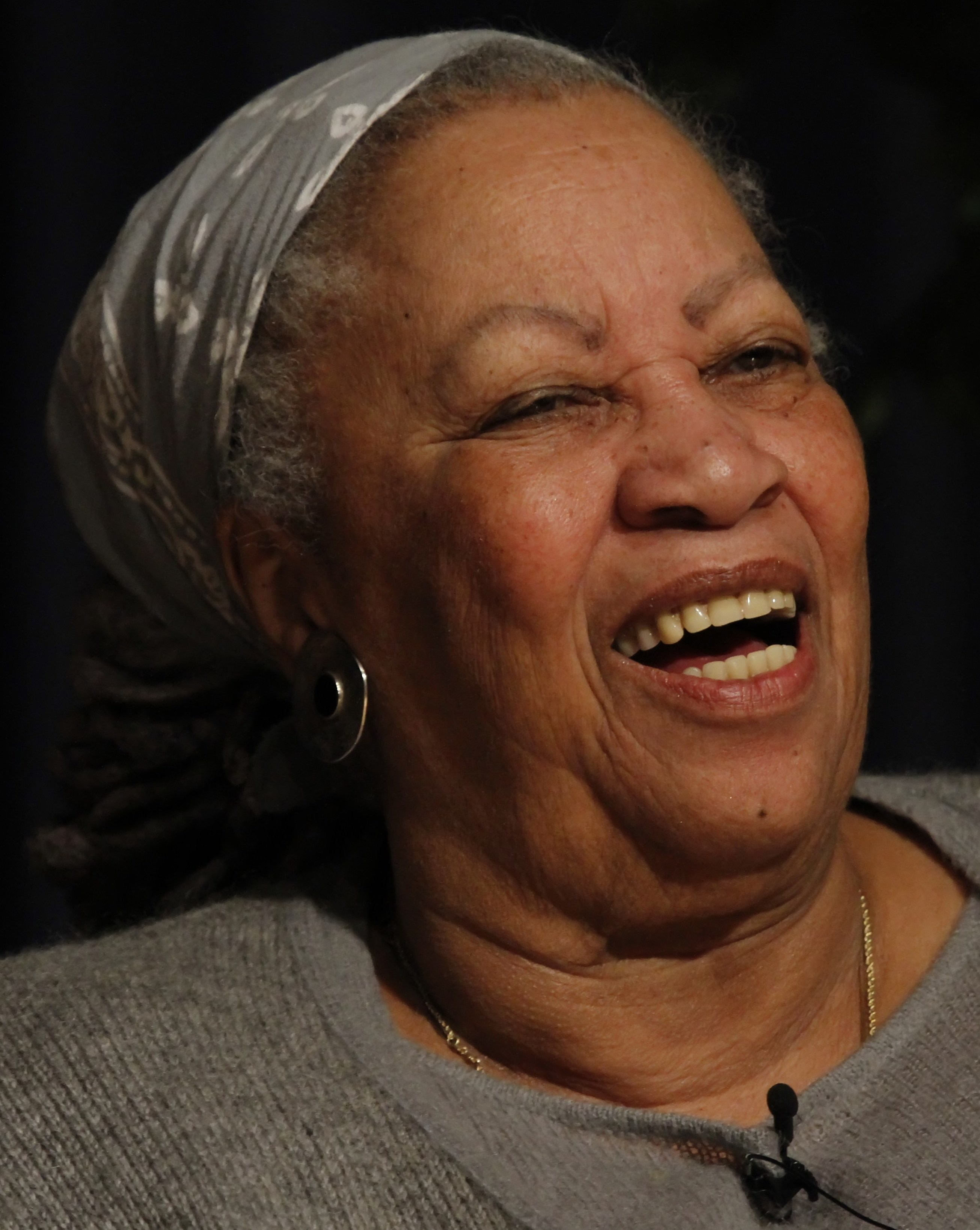 Toni Morrison, lecture at West Point Military Academy in March, 2013. (public domain)