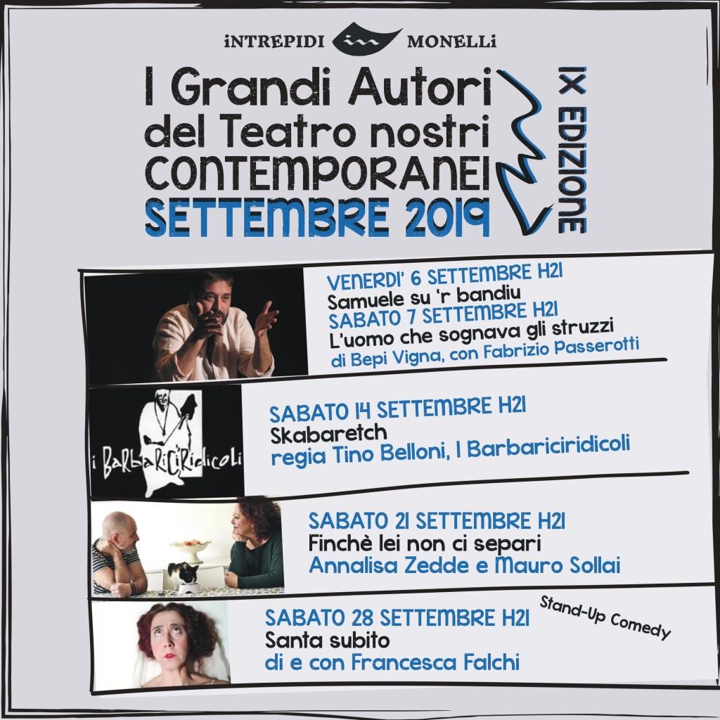 Intrepidi monelli a Cagliari, Rassegna i Grandi Autori del Teatro nostri contemporanei