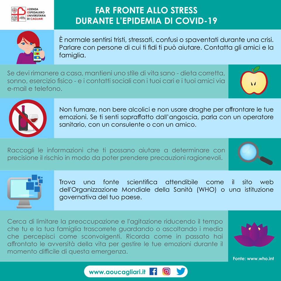Far fronte allo stress durante l'epidemia di COVID-19 - Azienda Ospedaliero Universitaria di Cagliari
