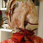 La designer Alice Tolu piena e indossa per mockUp un carrés Hermès , pic by A. Duranti