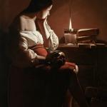 GEORGES DE LA TOUR, Maria Maddalena a lume di candela, ca. 1640 Los Angeles County Musuem of Art