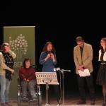 Gli scrittori sardi ricordano Sergio Atzeni, Rossana Copez, l'Assessore Firino e l'Assessore Puggioni, Teatro Massimo, Cagliari, 11 gennaio 2015