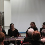 Le Sorelle Delunas, presentazione del fotoromanzo, Antonella Puddu e Tiziana Troja, 17 gennaio 2015, (Pic by Duranti)