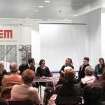 Le Sorelle Delunas, presentazione del fotoromanzo, Tore Cubeddu, Antonella Puddu, Tizianna Troja e Michela Sale Musio, 17 gennaio 2015, (Pic by Duranti)
