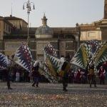 Carnevale romano, sbandieratori, Photo by Stefania Pendenza