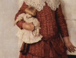 Vasily Ivanovich Surikov, Bambina con bambola, 1888