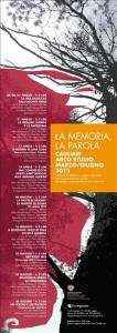 """Rassegna """"La memoria, la parola"""", Il Crogiuolo"""