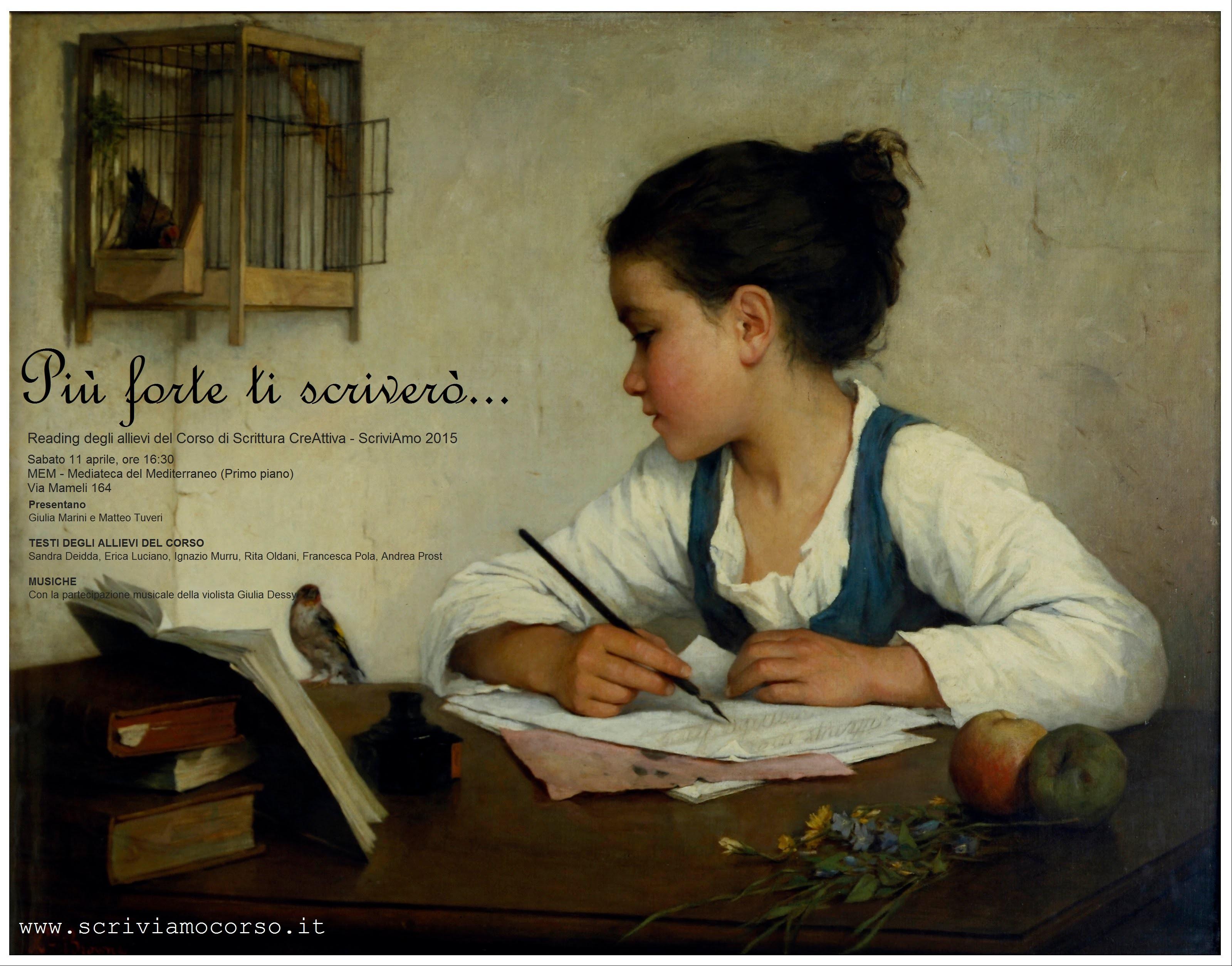 Un reading per gli allievi del Corso di scrittura ScriviAmo