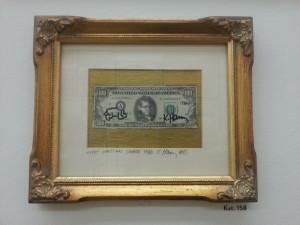 Keath Haringh, Gegen den Strich, disegno su banconota, Kunsthalle, Monaco