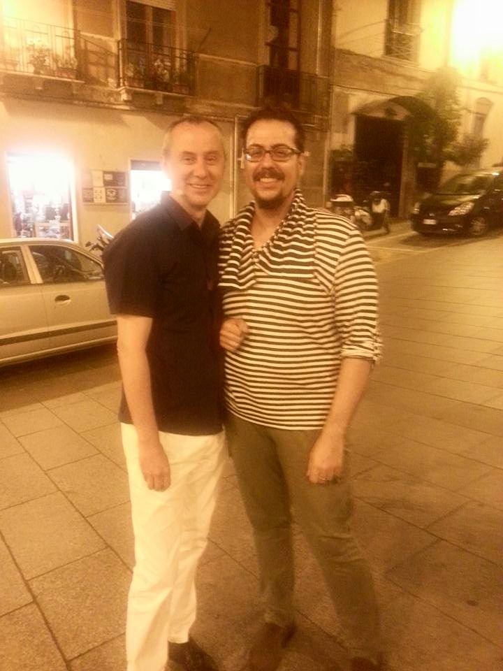 Alessandro Fullin con l'autore dell'articolo