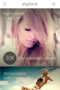 Glaamy, schermata dell'app Made in Cagliari