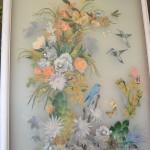 Lavinia altara, collage di carte stampate sotto cristallo, anni '60, mostra Altara, THotel, Cagliari