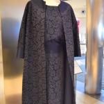 Edina Altara, abito shantung e macramè realizzato con la sorella Lavinia, anni '60