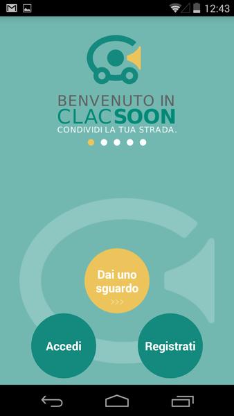 Clacsoon, schermata dell'app