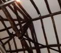 Eurasia, la mostra a Cagliari, il tetto a capriata del Palazzo di città.