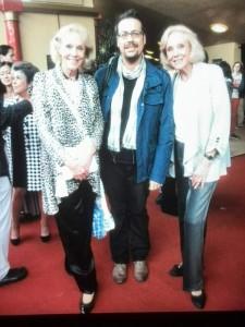 Matteo Tuveri con Alice ed Ellen Kessler a Monaco di Baviera.