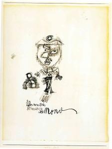 """Paul Klee, """"Über meinem Haus selbstverständlich der Mond"""", Sopra la mia casa ovviamente la luna, 1927."""
