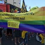 Sardegna Pride 2016, lo striscione UAAR.
