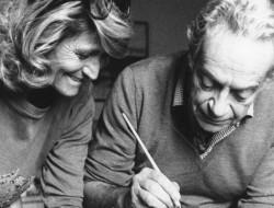 Marta Marzotto con Renato Guttuso.